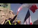 Yellow Vest protests continue, police disperse demonstrators using tear gas and stun grenades